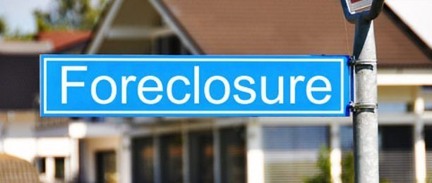 Foreclosure Blue Sign