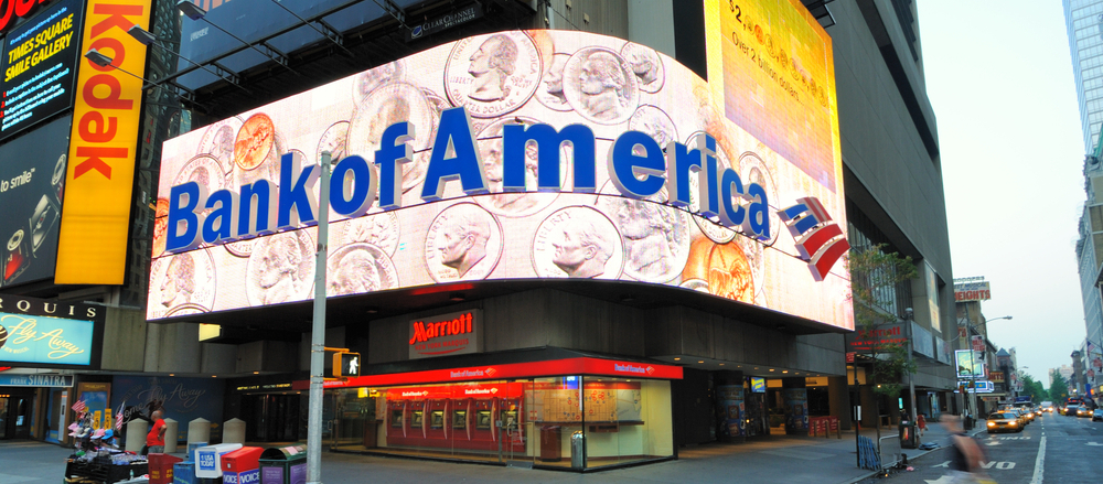Facade of BankOfAmerica