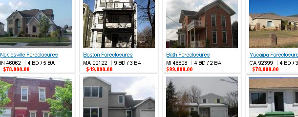Foreclosed Homes Listed for Sale