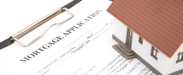 Mortgage Application Form and Model Home